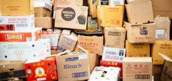 caixas das mais variadas como um estoque de um e-commer ou uma loja